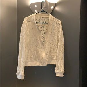 See through lace cardigan